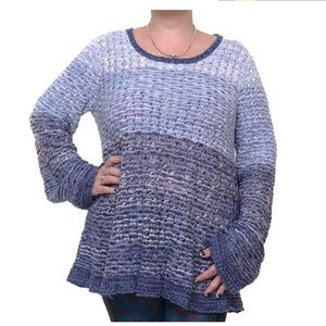Style & Co Color Block Crochet Sweater XL New